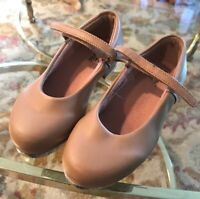 Leo Little Girl's Caramel Tan Leather Mary Jane Tap Shoes Size 8.5 M Tap Dance