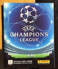 UK Edition Panini Champions League 2007 2008 Complete Sticker Set Mint 07 08