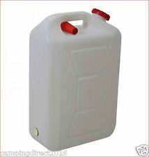 20 Lt Water Jerry Can Plastic Camping Storage Container White + Pourer Food Grad