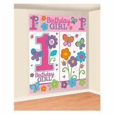 1st First Sweet Birthday Girl 5pc Scene Setter Wall Decorations Decorating Set