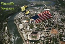 US Navy Parachute Team Neyland Stadium Knoxville Tennessee Volunteers - Postcard