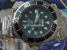 Invicta Mens Grand Diver Automatic Teal Blue Dial Polished Stainless Steel Watch