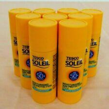 9 x Tesco Soleil Factor 50+ Moisturising Sun protection Stick 20g