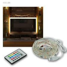 """RGB LED TV Hintergrundbeleuchtung SET für 42-65"""" 107-165cm Fernseher Ambient"""