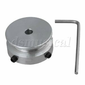 Silver Aluminum One Groove Pulley 30x5MM for Motor Shalf 6MM Round Belt