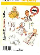 Vintage 50s Pattern Simplicity 3508 Baby Clothes