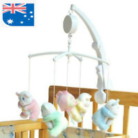 Hanging DIY Rotary Baby Cot Mobile Crib Bed Toys Wind-up Music Box Infant Bell