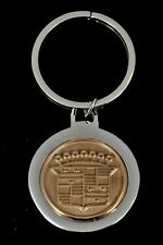 CADILLAC Sterling Silver Key Chain w Gold Filled Logo Vintage RARE