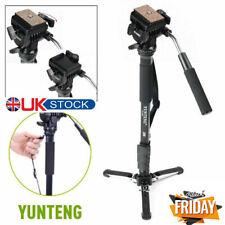 🔥UK Stock - YUNTENG VCT-288 Aluminum Monopod+Fluid Pan Head + Unipod Holder