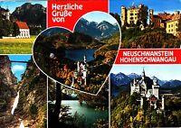 Neuschwanstein / Hohenschwangau , Ansichtskarte ,1987 gelaufen