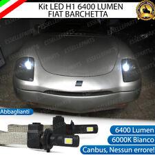 KIT FULL LED FIAT BARCHETTA LAMPADE ABBAGLIANTI LED H1 6000K BIANCO NO ERROR