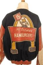 Vintage 90's JEFF HAMILTON MCDONALD'S LEATHER JACKET XXL COLLECTOR'S ITEM