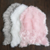 Fluffy Faux Sheepskin Fur Rug, Chair Throw 3' x 2' Sweet Home Collection