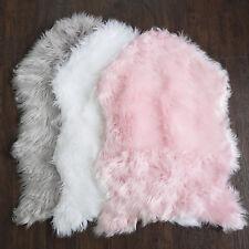 Fluffy Faux Sheepskin Fur Rug, Chair Throw 3' x 2' Sweet Home Collection