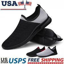 Men's Slip-On Walking Tennis Sneakers Fashion Lightweight Athletic Running Shoes