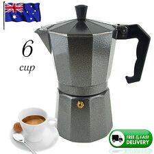 NEW 6 CUP ESPRESSO Coffee Black Percolator Perculator Charcoal Moka Stove Top