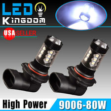 2x Cool White HB4 9006 Led Bulbs High Power 80W Fog Light DRL Lamp Non-polarity