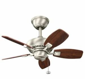 Kichler Canfield 30 in. Indoor/Outdoor Brushed Nickel Downrod Mount Ceiling Fan