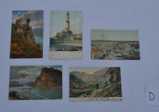 Collection x5 Antique MIXED EARLY COLOUR Postcards of Germany Spain Durban D