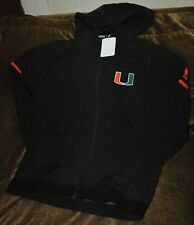 Miami Hurricanes hoodie woven jacket women's medium NEW with tags Adidas black
