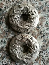 Chinese old Tibet silver coin carved double dragon