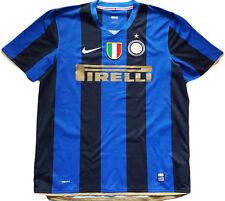 maglia Inter Figo 2008/2009 Home Jersey Nike Sphere-Dry XL Pirelli Scudetto