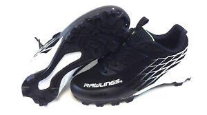 Infant Toddler Kids Rawlings Slider Low Black Baseball Softball Cleats Shoes