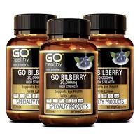 [Go Healthy] Go Bilberry 30,000mg with Lutein Eye Health 180 Vege Capsules