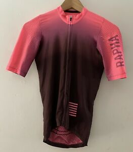 RAPHA Pro Team Aero Jersey Mens - XS (fits Women S) Short Sleeve Colourburn Pink