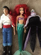 Disney Prince Eric Ariel And Sea Witch Barbie Dolls