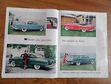 1953 Dodge Coronet Chrysler Windsor DeSoto Firedome Plymouth Cranbook Savoy Ad