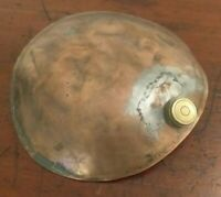 Antique Copper Hot Water Bottle Brass Screw In Bung- Unusual Curved Dome Shape