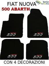 FIAT NUOVA 500 ABARTH,TAPPETI-tappetini +4loghi+4 block