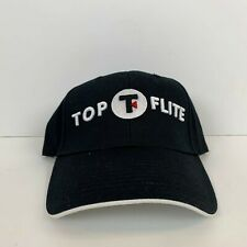 New Top Flite Golf Logo Strapback Hat Black Sewn cd9141341a1