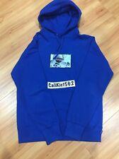 Supreme Astronaut Hooded Sweatshirt Hoodie Royal Blue Size Medium Box Logo CDG