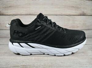 Hoka One One Clifton 6 Running Shoes Black White Women's Size 10