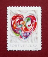 Sc # 5036 ~ Forever Stamp, Quilled Paper Heart Issue (bh31)