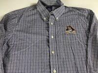 ECU Pirates Long Sleeve Shirt Mens XL East Carolina Plaid Student Alumni Pocket