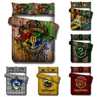 US/EU/AU Size Harry Potter 3pcs Duvet Cover Bedding Set Pillowcase Quilt Cover
