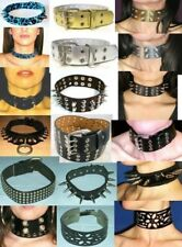 Lot 12 Colliers / Collar / Neck / Choker / Cuir / Leather / Bondage / Fetish