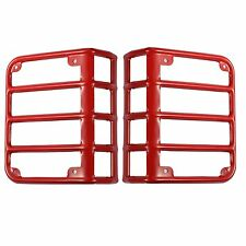 Rear Red Tail Light Cover Guard for Jeep Wrangler 2007-2018 JK & Unlimited