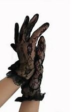 Lace Gloves Costume Gothic Steam Punk Burlesque  Cocktail- Black FAST FREE POST