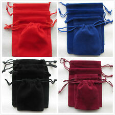 10 - 100 Red Black ... Velvet Gift Bags Thick Pouches Jewellery Packing Package