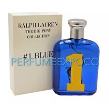 RALPH LAUREN POLO Big Pony #1 BLUE Cologne MEN 4.2oz-125ml EDT Spr TSTR (BN38