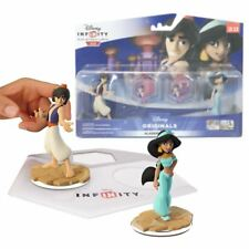 NUOVO Disney Infinity 2.0 Aladdin & Jasmine Toy Box Playset Figure ufficiali