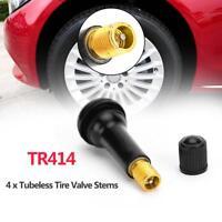 4pcs Rubber TR414 Snap-in Car Wheel Tubeless Tyre Valve Stems Dust Caps ##k