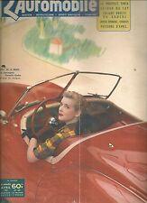 L'AUTOMOBILE 60 1951 RENAULT FREGATE RALLYE MEDITERRANEE LE CAP F1 F2 MOTO RECOR