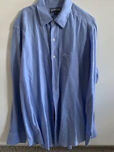 VILEBREQUIN  Men's Blue Linen Shirt XXL WORN ONCE Just Crushed