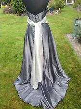 Forever Yours Silver Grey Bridesmaid Prom Evening Ball Dress K78115 Size 8-10