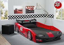 Car Bed Turbo Race Twin Delta Boys Children Bedroom Kids Bed Toddler Furniture
